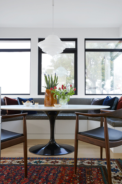Redondo Beach Refined Black Lacquer Design Dining Room Design Modern Dining Room Home Decor