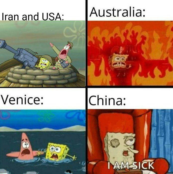 How Started 2020 Funny Spongebob Memes Really Funny Memes Spongebob Funny