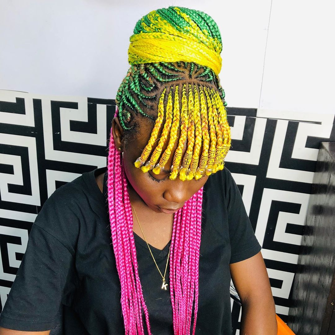 New 2020 Braided Hairstyles Choose Your Favourite Braids Colour Hair Styles Braided Hairstyles African Braids Hairstyles