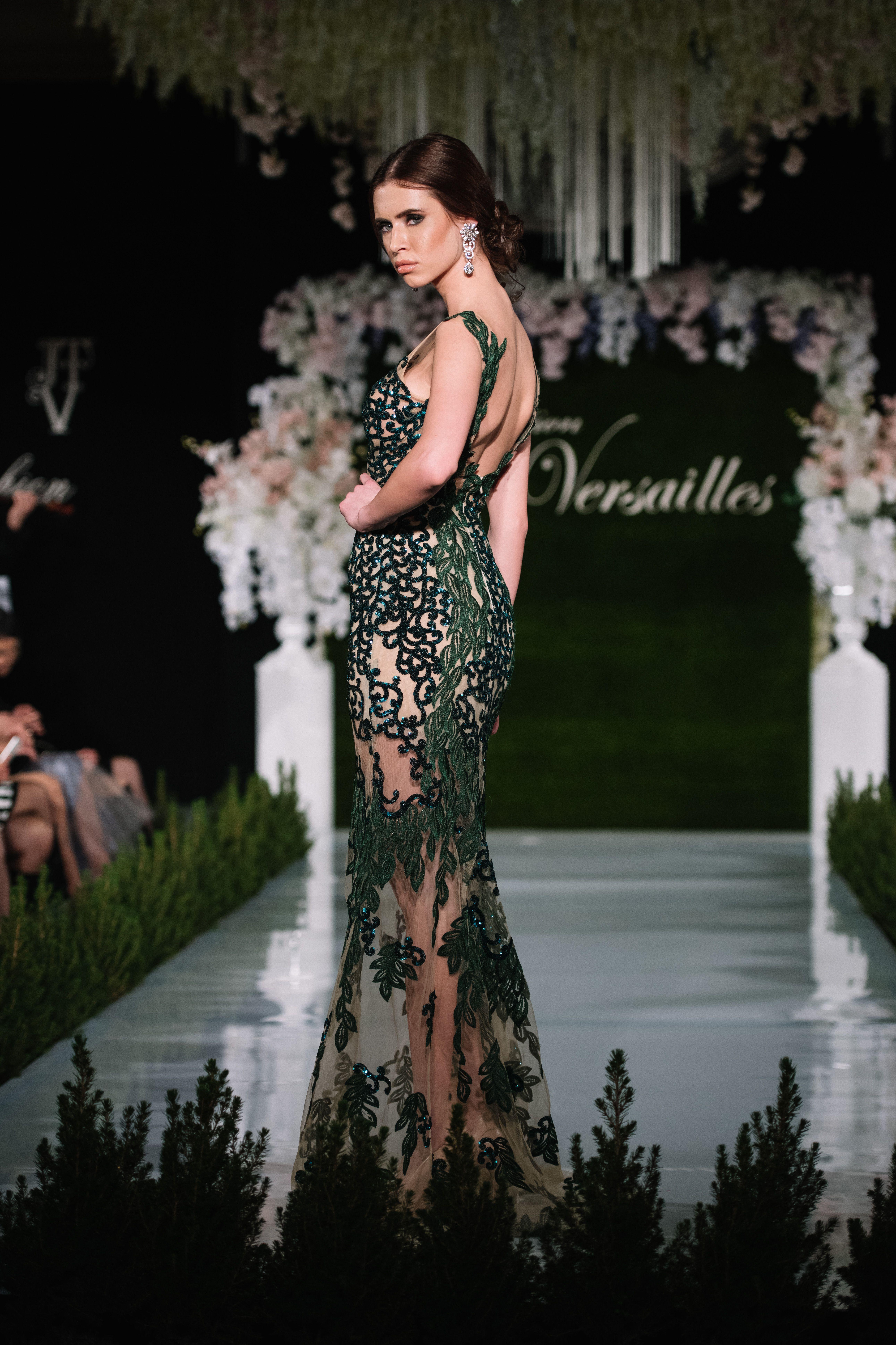 Green color, emerald dress, nude color dress, evening dress, prom ...