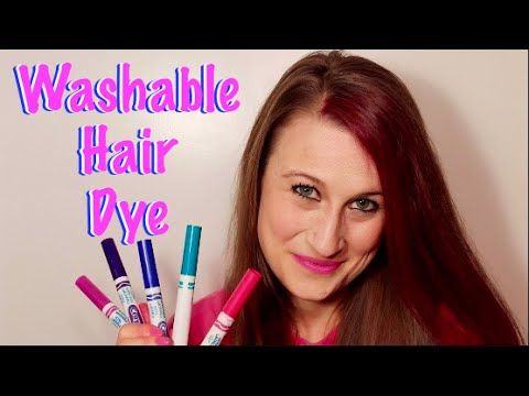 How To Make Washable Hair Dye With Markers Temporary Washable Hair Dye Diy Hair Dye Wash Out Hair Color