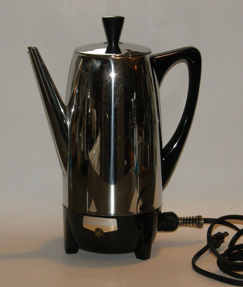 Vintage Farberware Superfast 12 Cup Electric Percolator Coffee Pot 122 Stainless Farberware Percolator Coffee Pot Coffee Pot Percolator