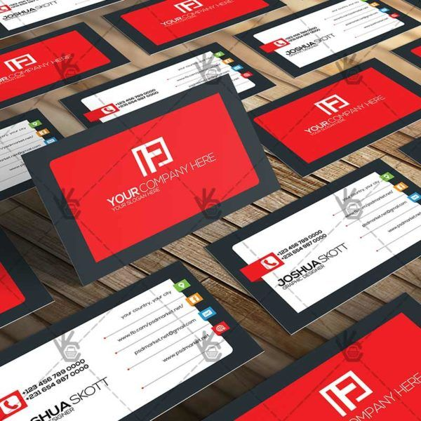simple premium business card psd template abstract