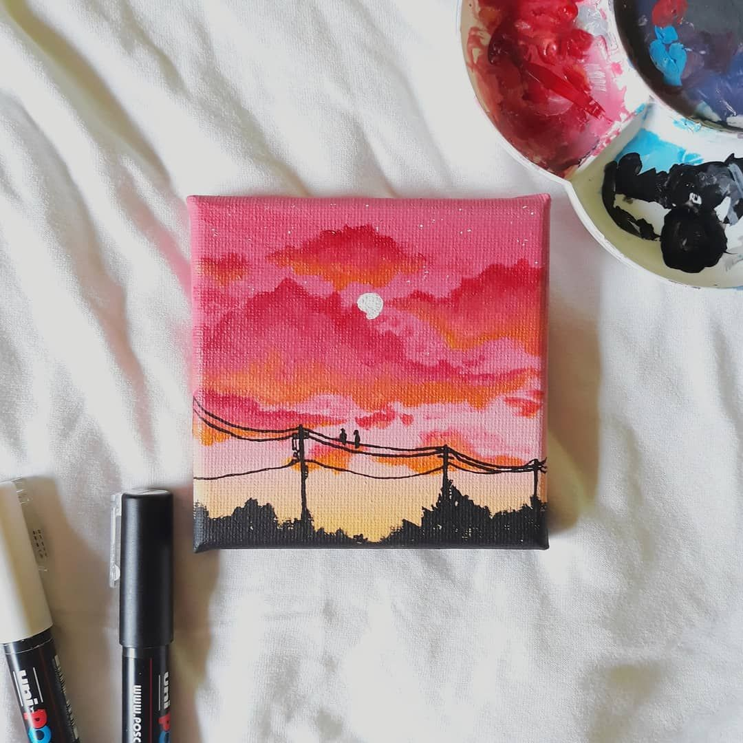 Easy Aesthetic Painting Tutorial