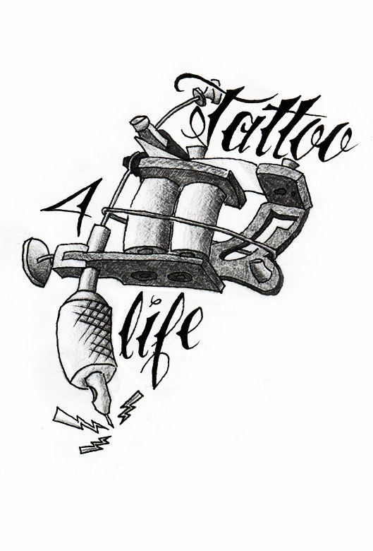 Tattoo machine by TeenageQueer.deviantart.com on @DeviantArt