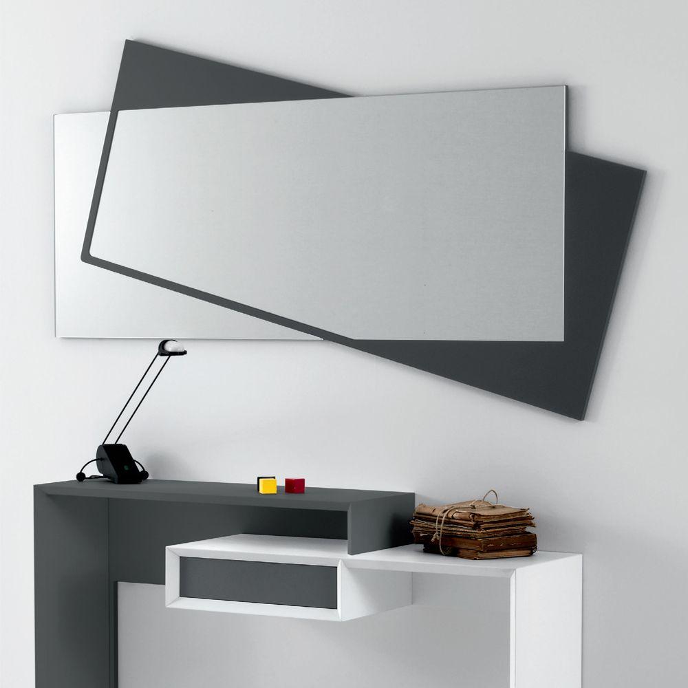 Specchio da parete moderno in mdf laccato opaco holden nel for Parete attrezzata design moderno