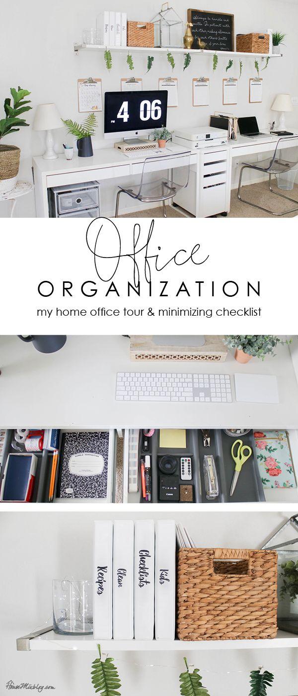 Office Organization Ideas And Minimalist Checklist Desk