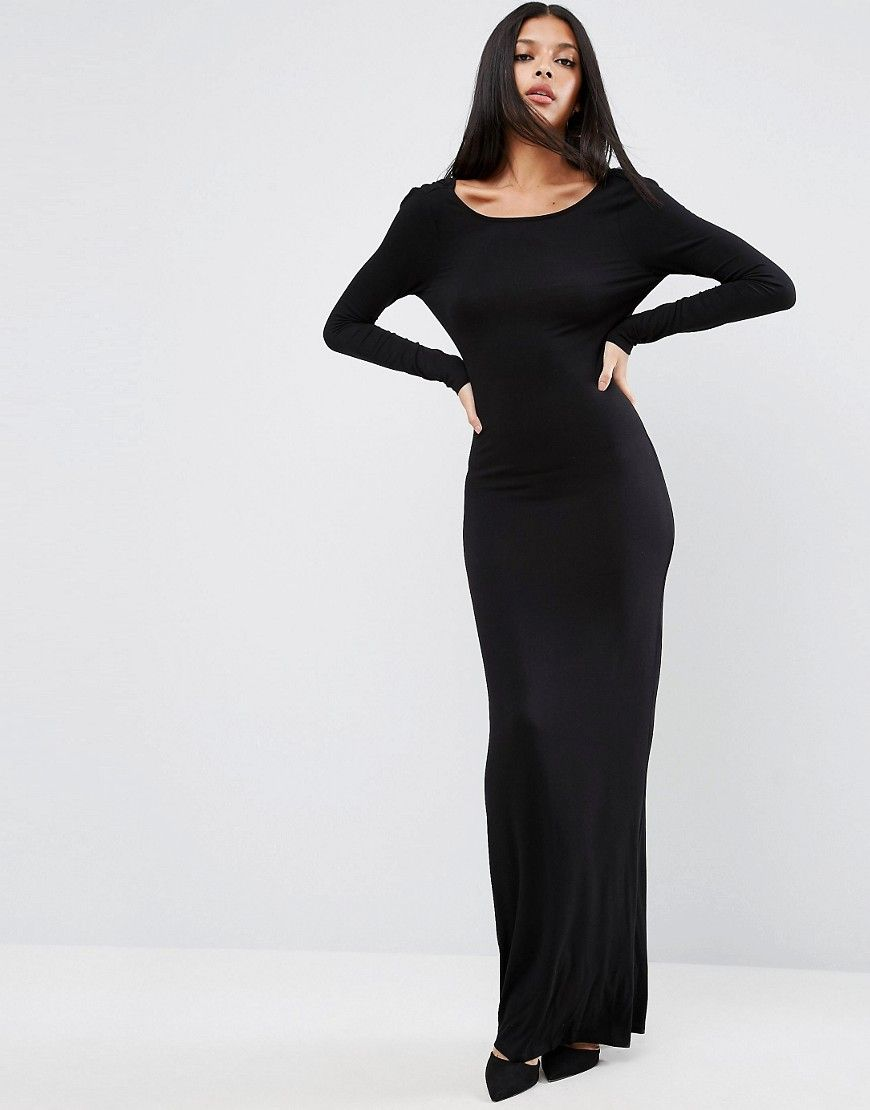 2a0fce6307 ASOS Basic Day to Evening Maxi Dress - Black | Products | Dresses ...