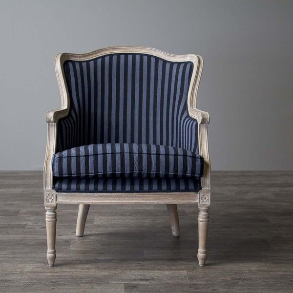 Baxton Studios Charlemagne Accent Chair Oak: Baxton Studio Charlemagne Traditional French Black And