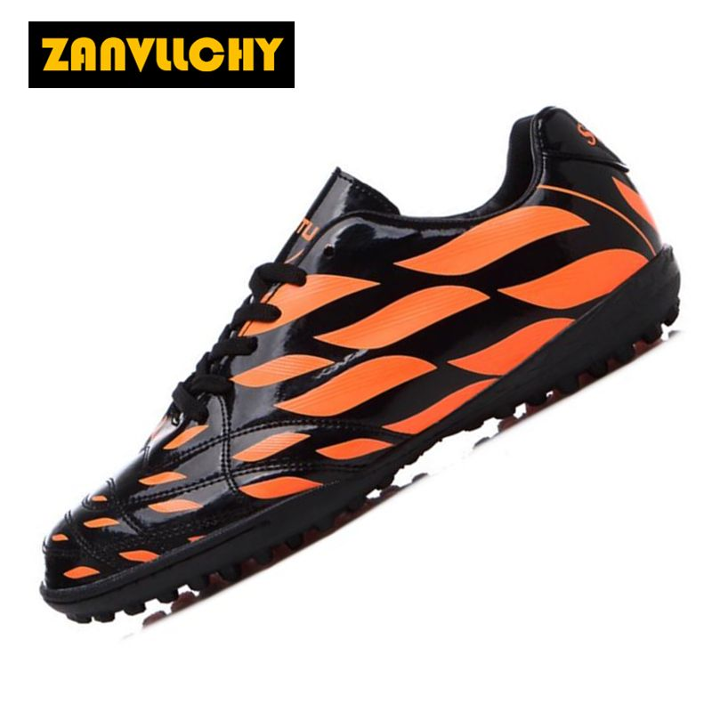 81fc2a52b39 ZANVLLCHY New Arrivals Mens Outdoor Lawn Soccer Shoes Turf TF Football Boots  Men Long Spikes Lace