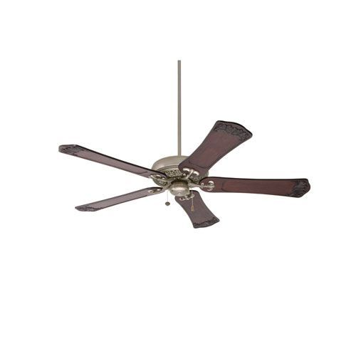 Crown Select Antique Pewter 60 Inch Ceiling Fan With Dark Walnut Hand Carved Ornate Blades Antique Pewter Ceiling Fan 60 Inch Ceiling Fans