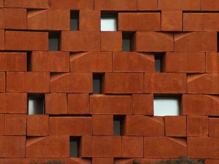 bloques hormign tematizados en color y forma para drenaje