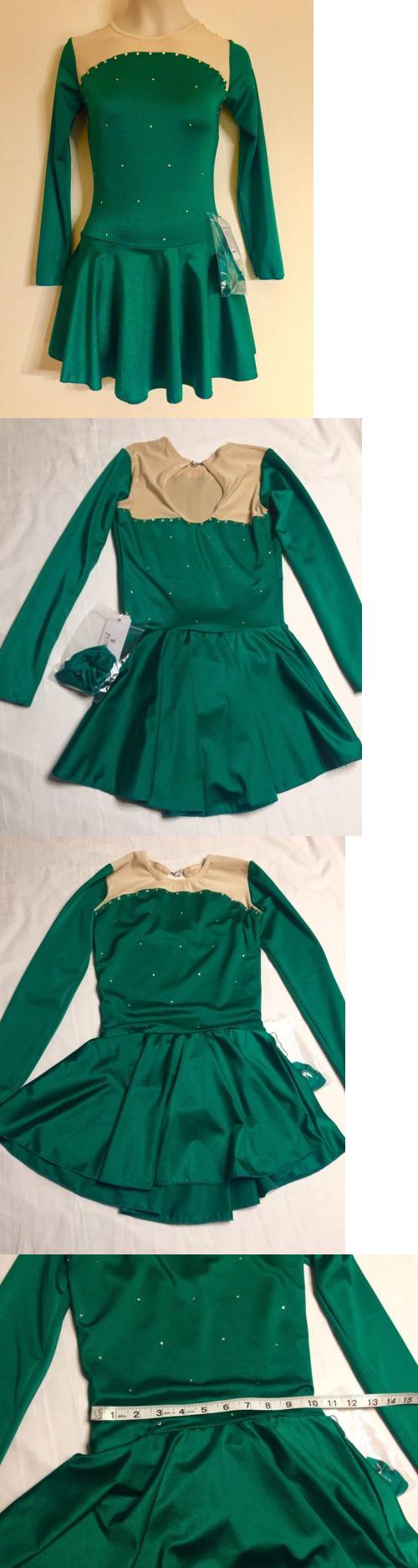Skating Dresses-Girls 21226: Figure Skating New Dress Child 8 M Green Nwt Ice Christmas Swarovski Crystals -> BUY IT NOW ONLY: $59.99 on eBay!