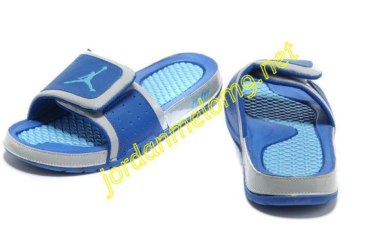 4f300c77e344db Air Jordan Hydro 2 Slide Slides Sandals Sandals Black Game Blue ...