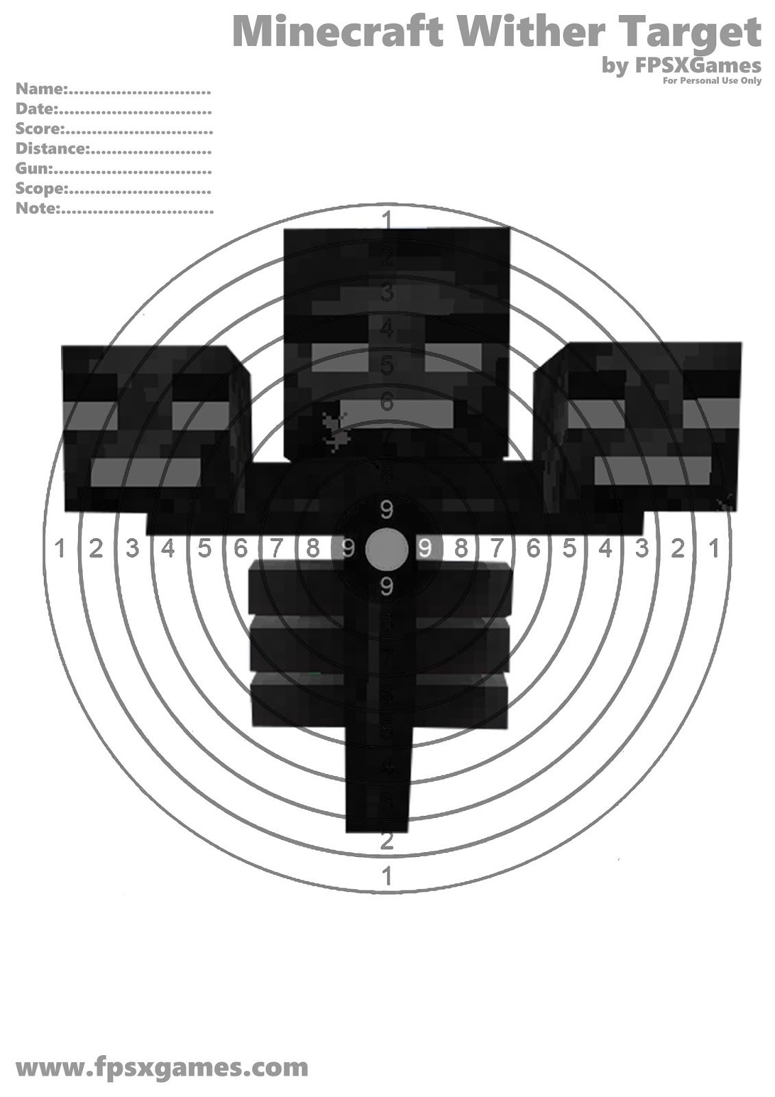 Minecraft Wither Target