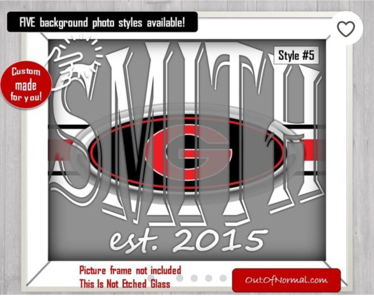 Bulldogs UGA Football Custom Name Art Gift Xmas