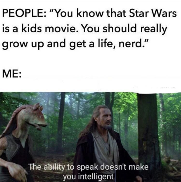 Pin By Amanda Wedin On Star Wars Star Wars Humor Memes Prequel Memes