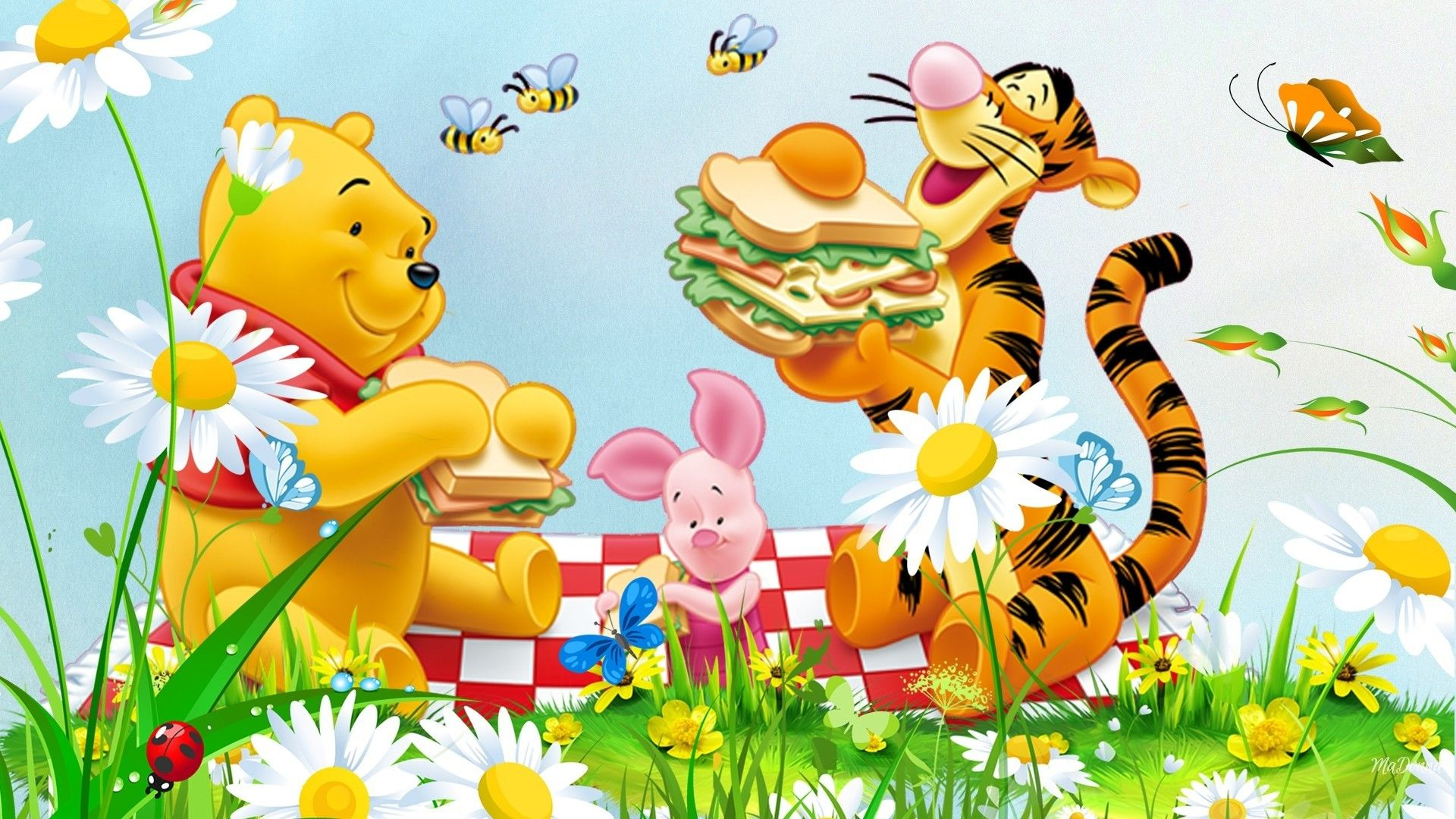 free disney pooh tigger lumpy and friends printables wallpap 1920