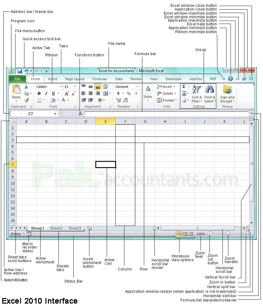 Excel for Accountants - Introduction to Excel Interface ...