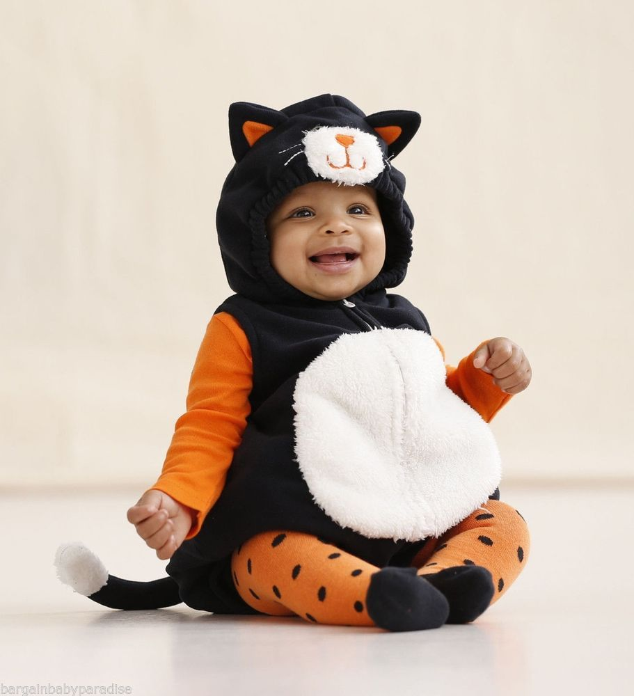 CARTER\'S Halloween Black Cat Baby Costume 3-6 Months NWT Puffy ...