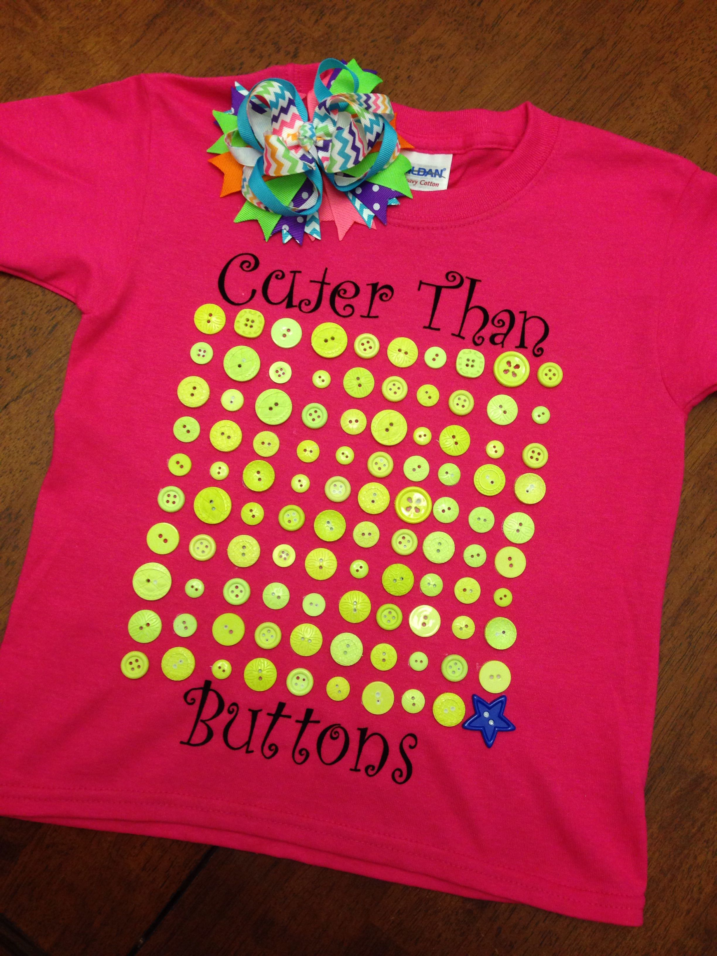 100 Days Of School Shirt Cuter Than 100 Buttons With Images