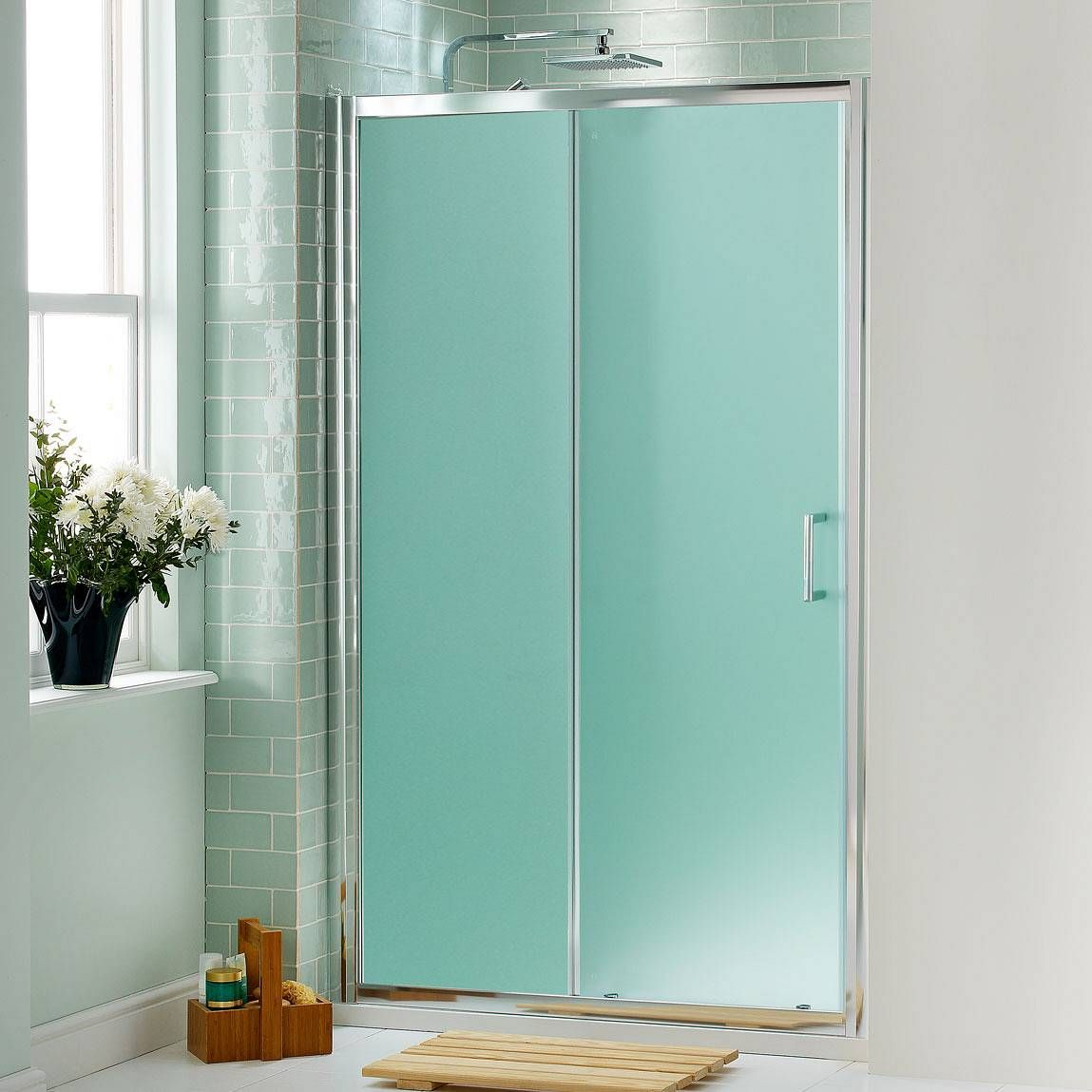 V6 Frosted Glass Sliding Shower Door 1200 Now 99 99 Less Than Half Price Shower Doors Frosted Shower Doors Shower Door Designs