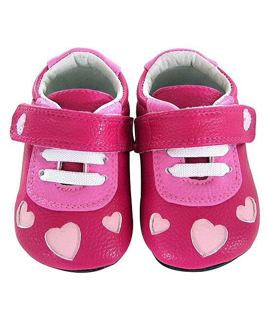 8aa08c54a605 Fuchsia   Pink Heart Cutout Ellie Leather Sneaker