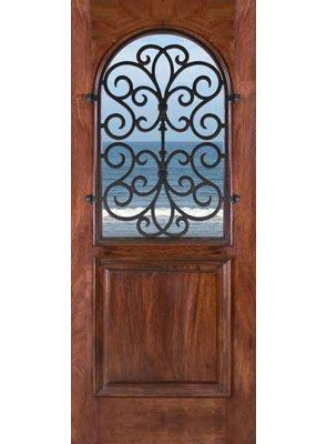 Classic Iron Door For $2,200.00 From WineRacks.com Solid Mahogany Door  Withan Artisitc Iron Grill