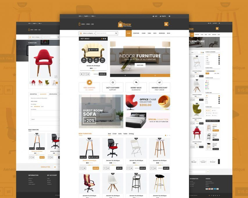 4ee202a818 Online Retail Store Website Template Free