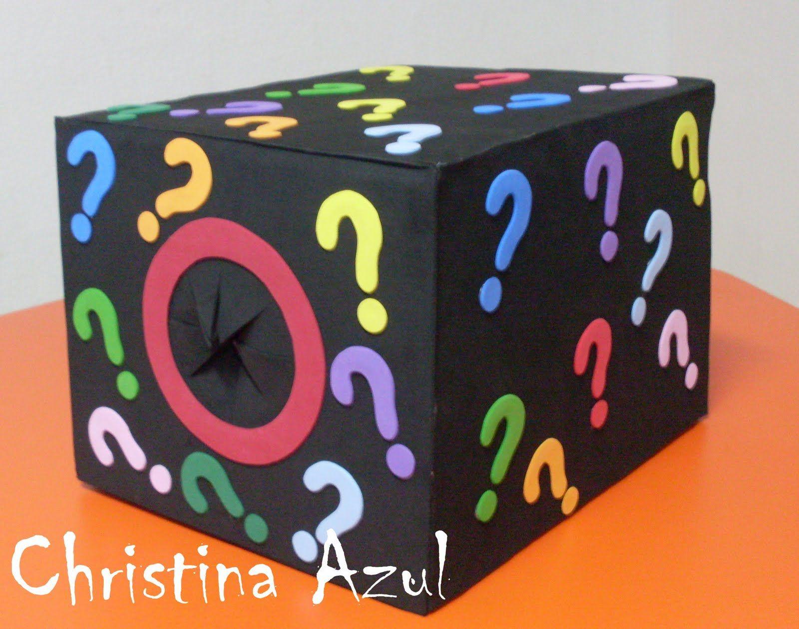 fd0ca09c3ee Christina Azul  Caixa surpresa em EVA