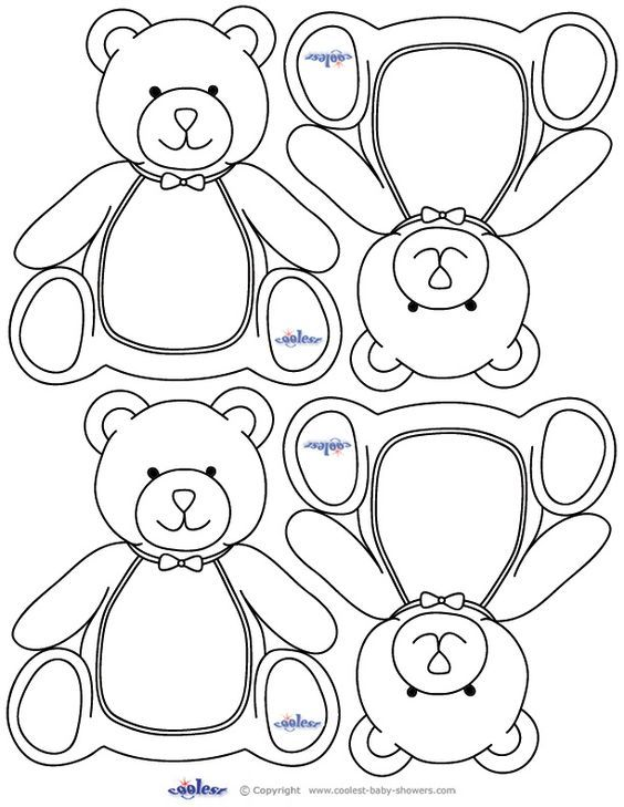 teddy bear printables: | baby shower | Pinterest | Bären ...