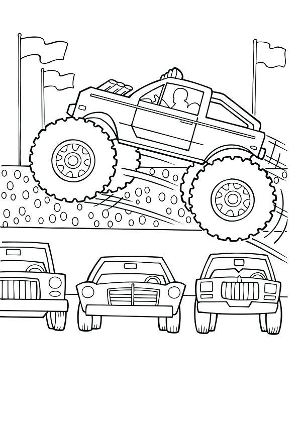 Monster Trucks Malvorlagen Monstertrucks Malvorlagen Monster Truck Coloring Page Fa 1 4 R Druckbar Halaman Mewarnai Warna Desain