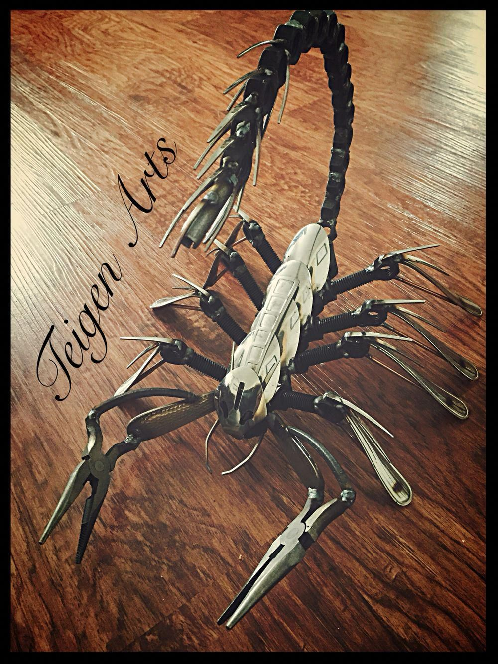 Garage Art Facebook This Is My Scorpion I Built Check Out More Pictures And Metal Art