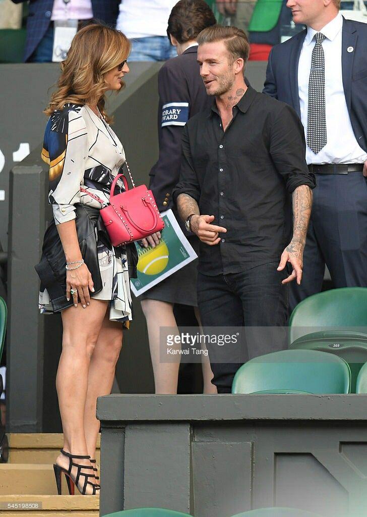 Wimbledon 2016 mirka with David Beckham | FEDERER | Mirka