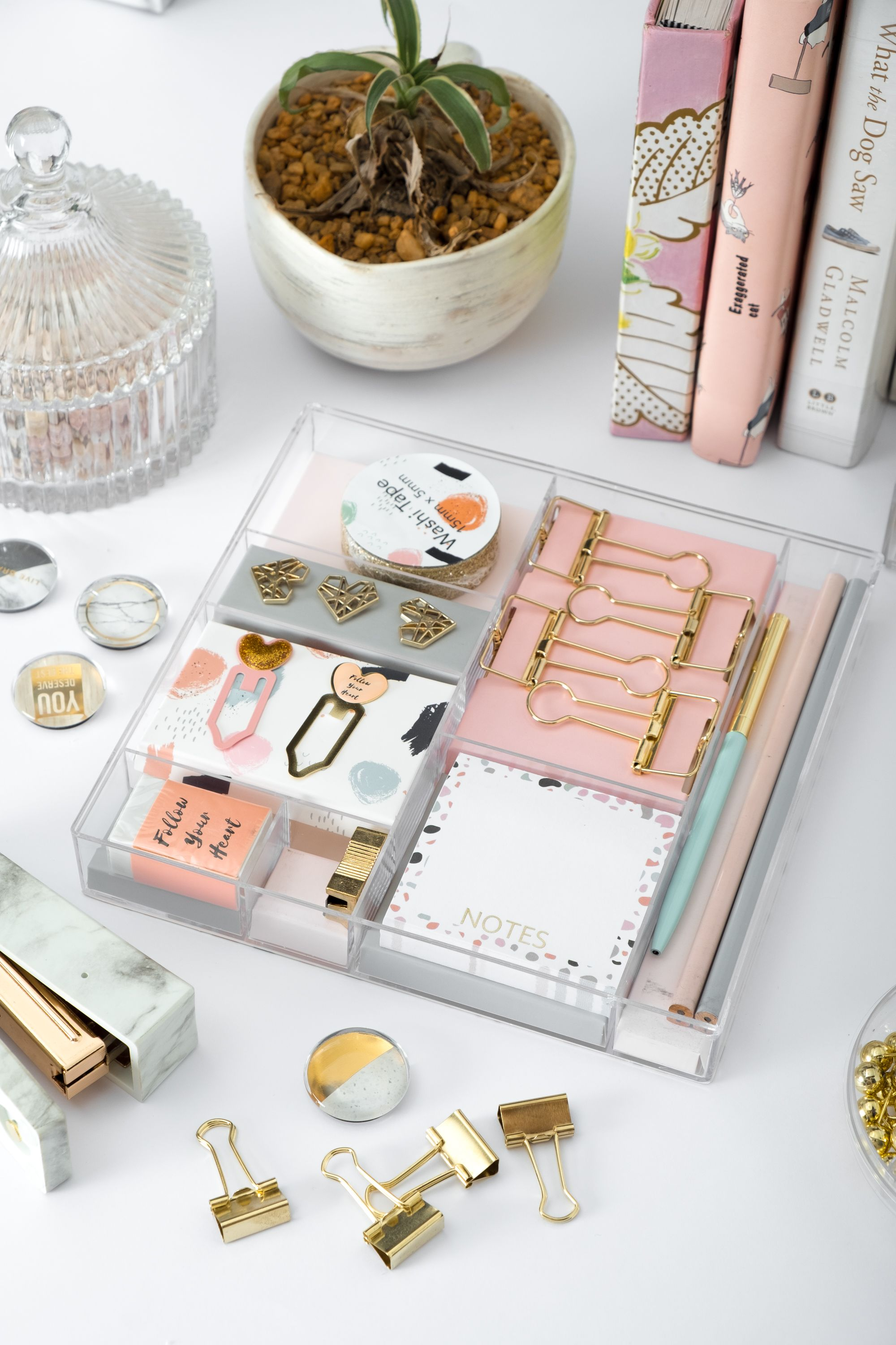 Dainty Stationery Kit with 38 Items  Rose gold stationery