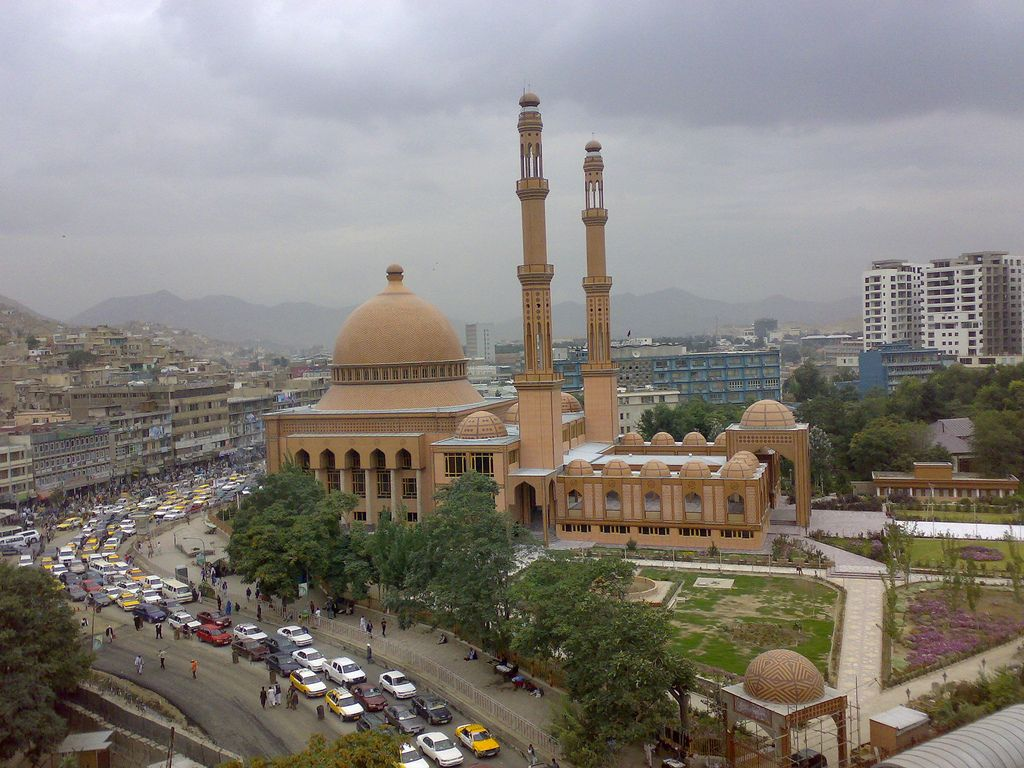 Kabul Mosque Usual Traffic Afghanistan Mosque Kabul