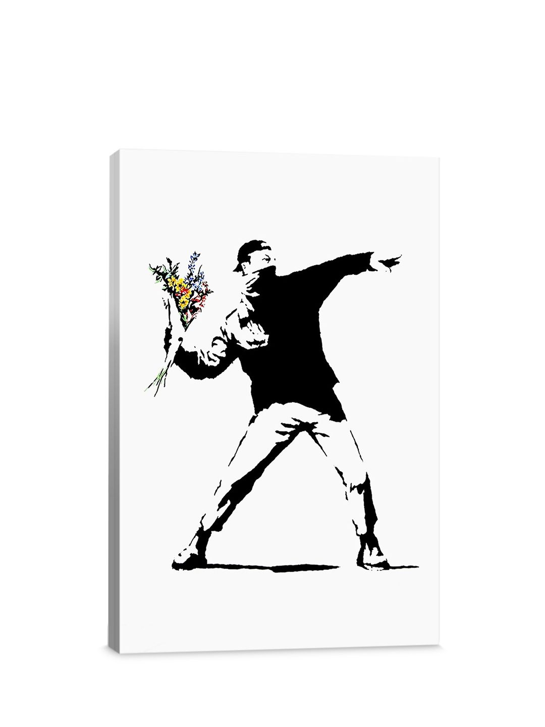 BANKSY FLOWER BOMBER DECAL DECOR STICKER WALL ART GRAPHIC VARIOUS COLOUR