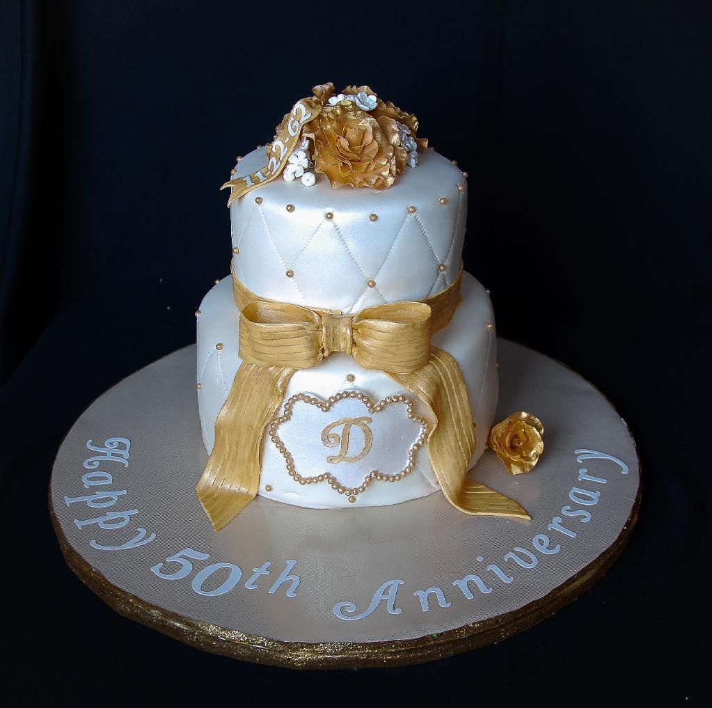 Cake Ideas For Wedding Anniversary: 50th Anniversary Cake By