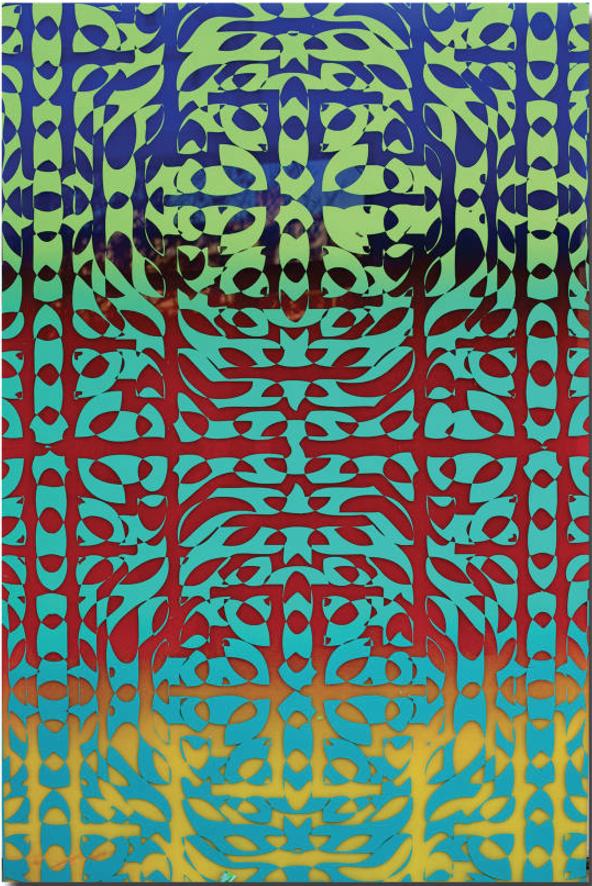 Nazrin Mammadova, Fields series, 2013, acrylic on plexiglass.
