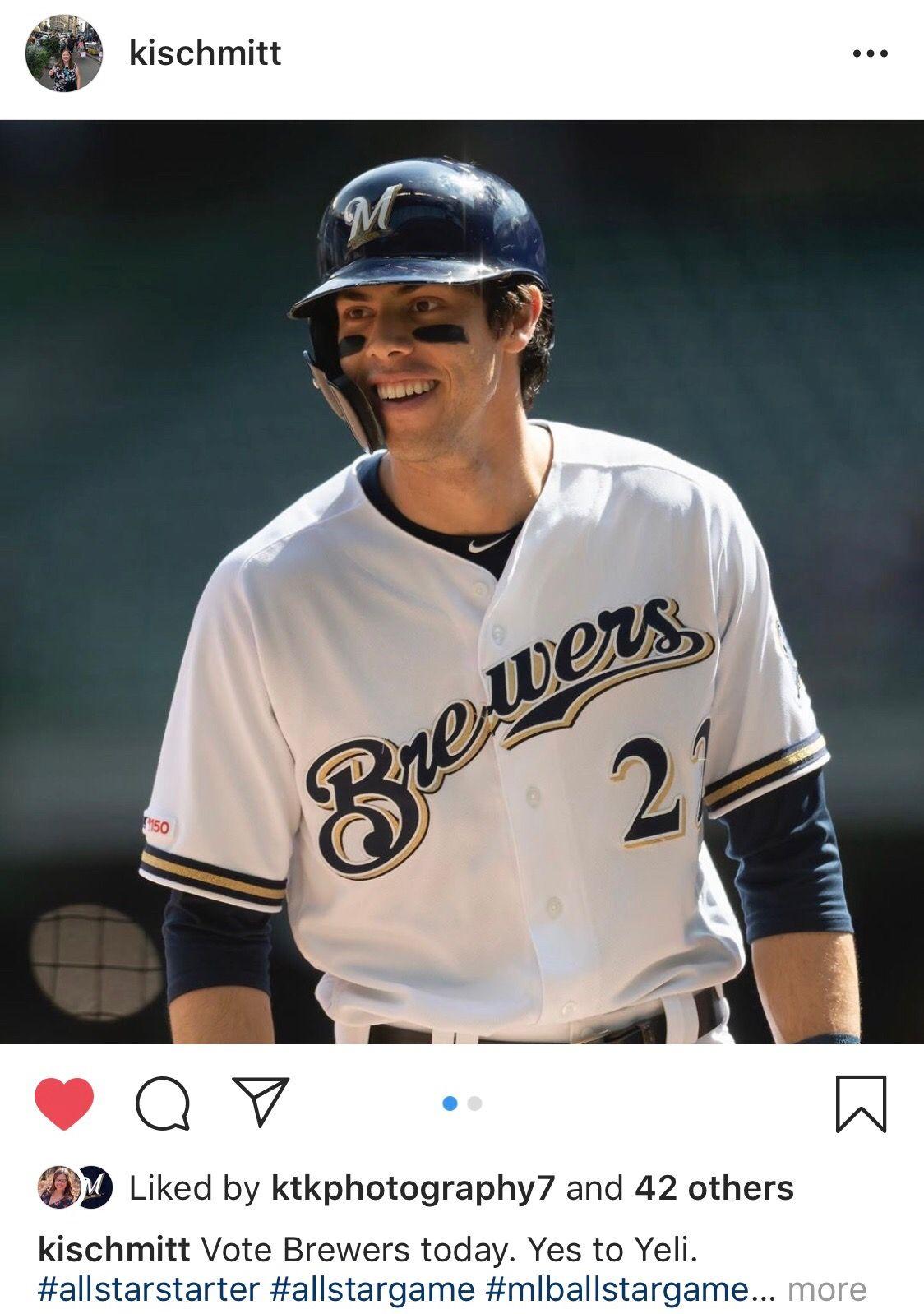 Votebrewers Www Mlb Com All Star Ballot Christian Yelich Brewers Baseball Baseball Players
