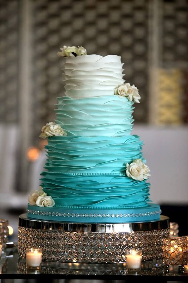 26 Oh So Pretty Ombre Wedding Cake Ideas   Wedding Cakes  Cupcakes     Indian Weddings Inspirations  Blue Wedding Cake  Repinned by   indianweddingsmag indianweddingsmag com  weddingcake