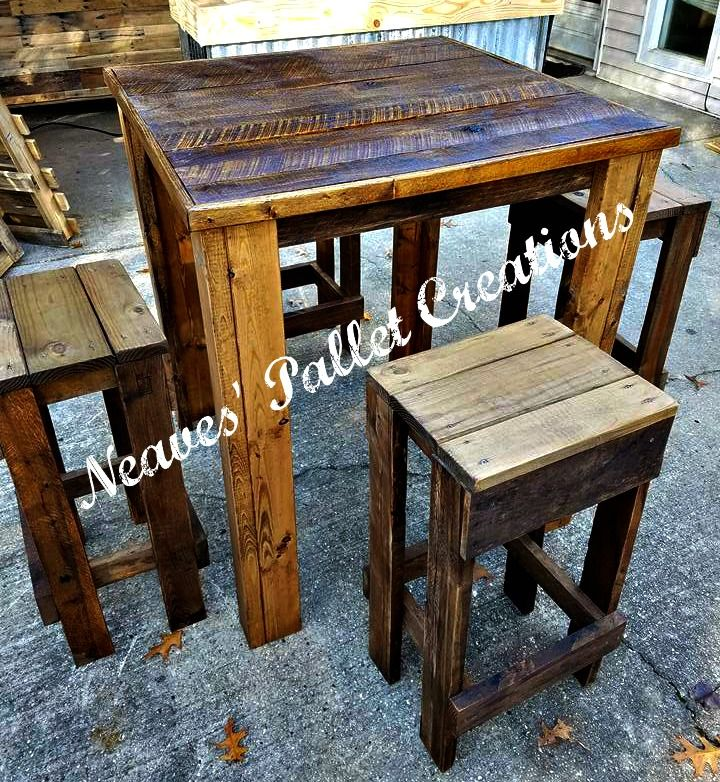 RECYCLED WOOD PALLET We Have A High Pub Table With Stools The - 36 high pub table