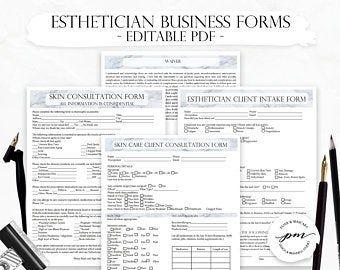 Esthetician Business Planner, Editable Skin Care