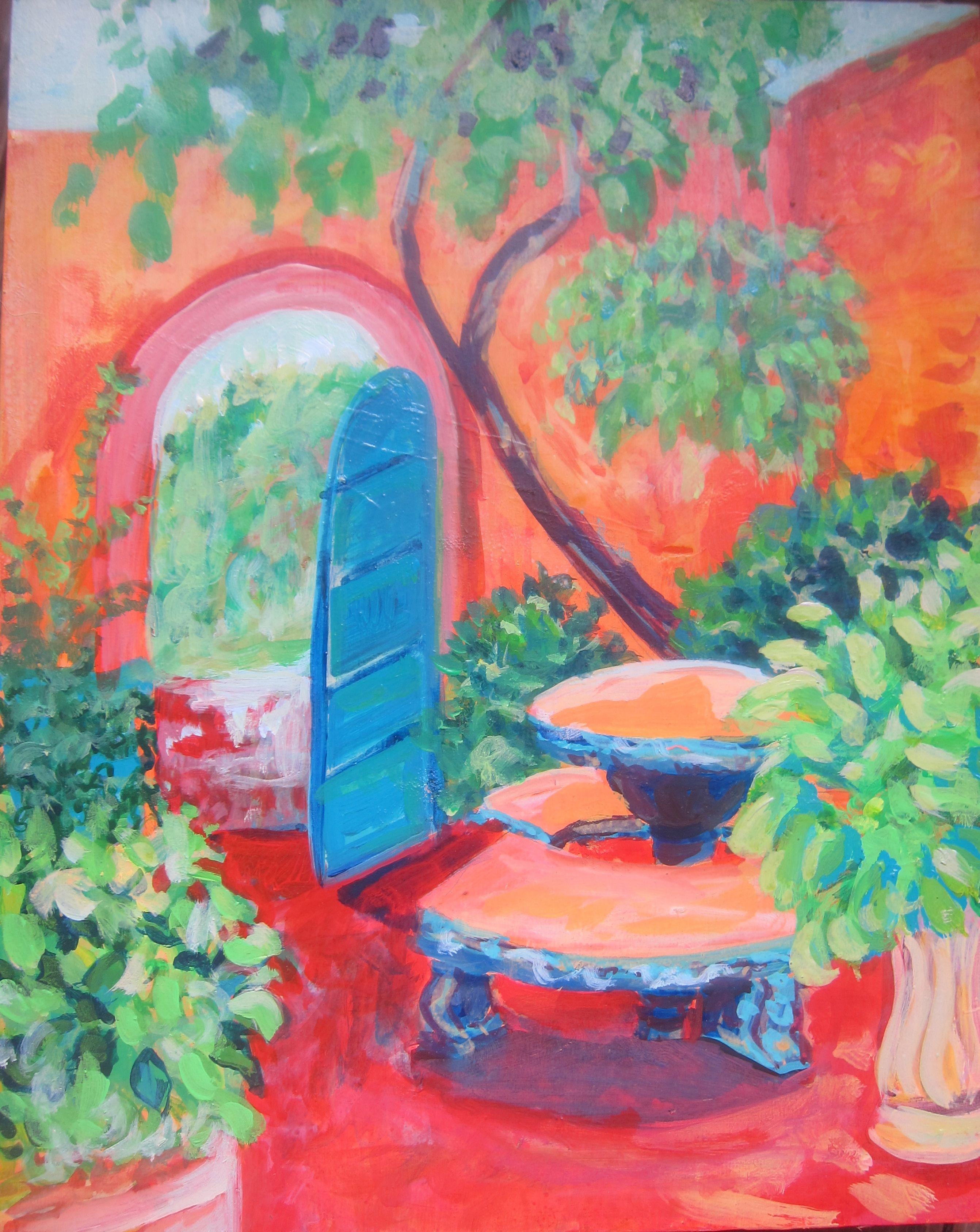 Painting By Trinidadian Artist Danielle Du Boulay