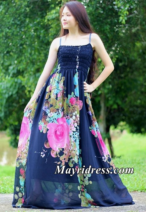 56dbd36862 Navy Blue Dress Prom Maxi Dress Casual Dress Plus Size Dress Summer  Sundress Beach