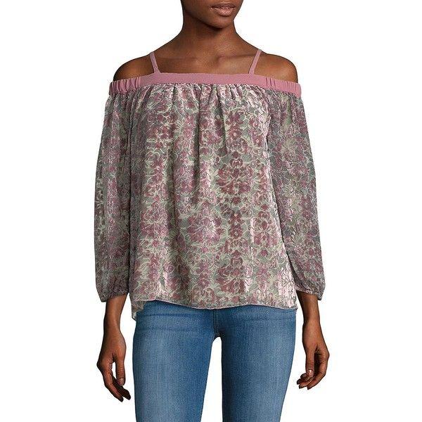 944e5d08d8b4b Jessica Simpson Women s Trisha Velvet Blouse ( 60) ❤ liked on Polyvore  featuring tops