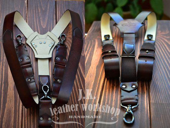 cuir hommes bretelles bretelles personnalis bretelles marron maroquinerie cuir cuir homme. Black Bedroom Furniture Sets. Home Design Ideas
