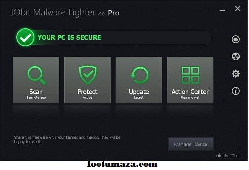 iobit malware fighter 4.5 license key