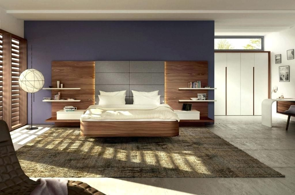 Practical Floating Headboard With Attached Nightstands Floating Headboard Bed Back Design Headboards For Beds