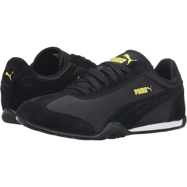 PUMA 76 Runner Fun (Black Black) Women s Shoes ( 46) ❤ liked on Polyvore  featuring shoes d3132570b